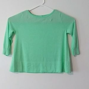 Halogen Sz M Green Long sleeve Top Sweater